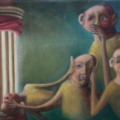 autoportrait à la colonne